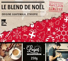 Café moulu pour cafetière filtre : Le Blend de Noël (Mélange Gourmand) - 250g - Cafés Lugat