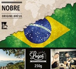 Café moulu bio pour cafetière filtre : Brésil - Nobre - 250g - Cafés Lugat