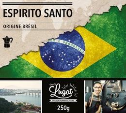 Café moulu pour cafetière italienne : Brésil - Espirito Santo - 250g - Cafés Lugat