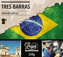 Café moulu pour cafetière italienne : Brésil - Tres Barras - 250g - Cafés Lugat