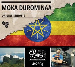 Café en grains : Ethiopie - Moka Durominaa - 1Kg - Cafés Lugat