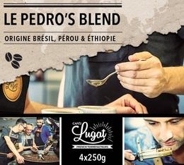 Café en grains : Le Pedro's Blend (Mélange Gourmand) - 1Kg - Cafés Lugat
