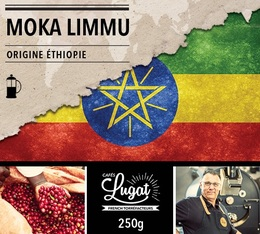 Café moulu pour cafetière à piston : Ethiopie - Moka Limmu - 250g - Cafés Lugat