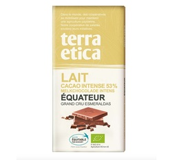 Tablette chocolat au Lait 53% Equateur 100g - Café Michel
