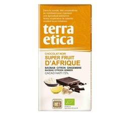 Tablette chocolat Noir 72%  Superfruits d'Afrique 100g - Café Michel