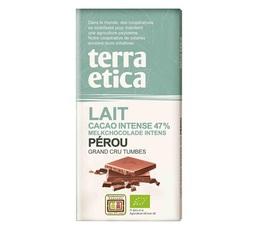 Tablette chocolat au Lait 47% Pérou 100g - Café Michel