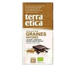Tablette chocolat Noir 72% Graines Natures 100g - Café Michel