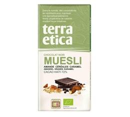 Tablette chocolat Noir 72% Muesli 100g - Café Michel