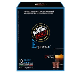 Caffè Vergnano 'Espresso Decaf' decaffeinated coffee capsules for Nespresso x 10