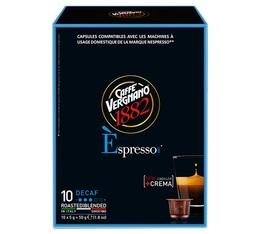 Capsule Espresso Dec Caffè Vergnano x10 pour Nespresso