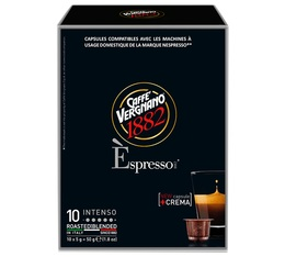 Espresso Intenso capsules by Caffè Vergnano x10 for Nespresso