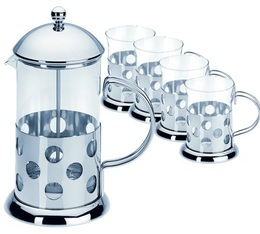 Cafeti re piston french press bulle 1 litre 4 mugs - Fonctionnement cafetiere a piston ...