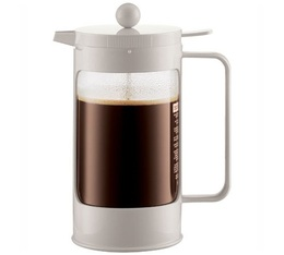 Cafeti re piston bodum bean blanc cr me 1 l 8 tasses - Utilisation cafetiere a piston ...