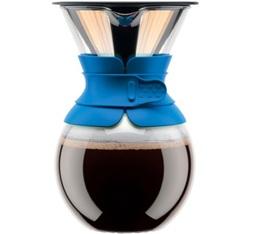 Cafetière filtre Bodum Pour Over bleue - 8 tasses