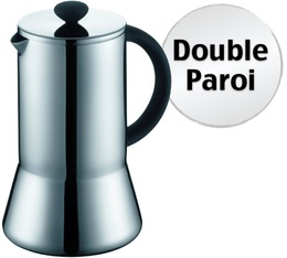 Cafeti re piston presso double paroi en inox brillant 1l - Utilisation cafetiere a piston ...