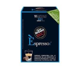 Capsule Biodégradable/Compostable Espresso Deca Caffè Vergnano x10 pour Nespresso