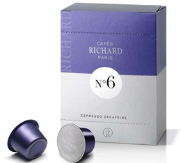 Cafés Richard N°6 coffee capsules x24 - Decaffeinated