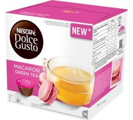 16 capsules nescafe dolce gusto macaron green tea. Black Bedroom Furniture Sets. Home Design Ideas