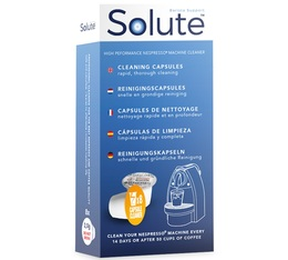Solute 8 cleaning capsules for Nespresso machines