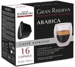 Capsules Gran Riserva Arabica x16 - Caffè Corsini pour Dolce Gusto