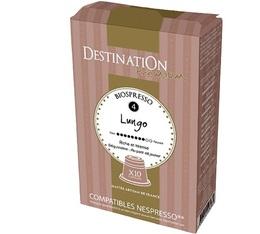Capsules compatibles Nespresso Biospresso Lungo x10 Destination