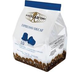 Capsules Espresso Decaféiné x10 Miscela d'Oro pour Nespresso
