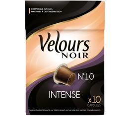 Capsules Intense Velours Noir x10 pour Nespresso