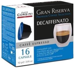 Capsules Gran Riserva Decaffeinato x16 - Caffè Corsini pour Dolce Gusto