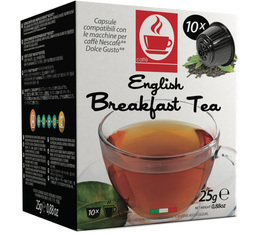 Caffè Bonini English Breakfast black tea pods for Dolce Gusto x 10