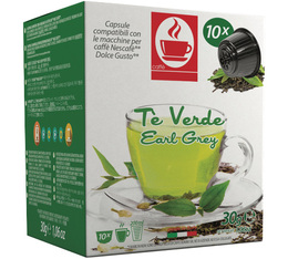 Capsules Dolce Gusto® compatibles Thé Vert Earl Grey x10
