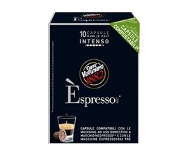x10 Biodegradable Espresso Intenso capsules by Caffè Vergnano for Nespresso