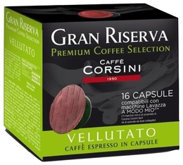 Capsules Gran Riserva Vellutato x16 - Caffè Corsini pour Lavazza a Modo Mio