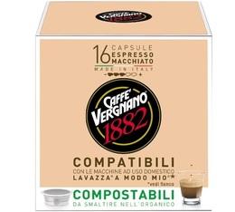 Capsule Lavazza a Modo Mio® compatible Macchiato Caffè Vergnano x16