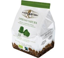 Capsules Espresso Natura Bio x10 Miscela d'Oro pour Nespresso