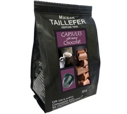 Chocolate flavoured coffee capsules x 10 Maison Taillefer for Nespresso