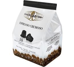 Capsules Espresso Cremoso x10 Miscela d'Oro pour Nespresso