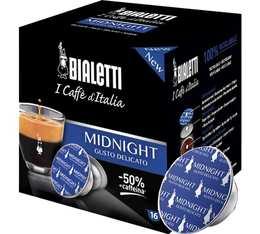 Capsules Mokespresso Bialetti 'Midnight' x 16 - 50% de caféine en moins - arome céréale vanille