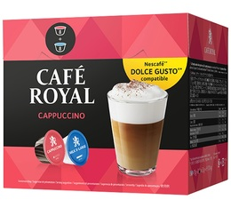 Capsules Nescafe® Dolce Gusto® compatibles Café Royal Cappuccino x 16 (8 boissons)