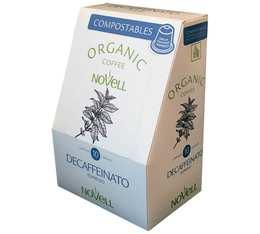 Capsule organique 100% Compostable Decaffeinato Bio pour Nespresso x10