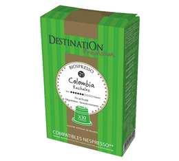 Capsules compatibles Nespresso Biospresso Colombie x10 Destination