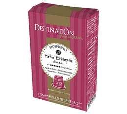 Capsules compatibles Nespresso Biospresso Moka Awasas x10 Destination