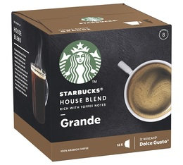 Capsules Compatibles Nescafe® Dolce Gusto® House Blend x 12 - Starbucks
