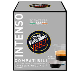 Caffè Vergnano Intenso capsules for Lavazza A Modo Mio machines x 16