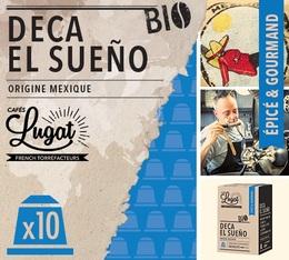 Capsules Deca bio El Sueño Cafés Lugat x10 pour Nespresso
