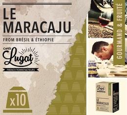 Capsules Le Maracaju Cafés Lugat x10 pour Nespresso