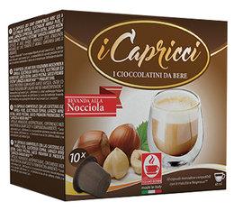 iCapricci Hazelnut 10 capsules compatibles Nespresso - boisson aromatisée noisette