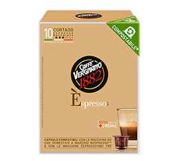 Capsule Biodégradable/Compostable Cortado Macchiato Caffè Vergnano x10 pour Nespresso