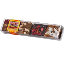 Assortiment 8 carrés de chocolat gourmands - 70g - Schaal Chocolatier