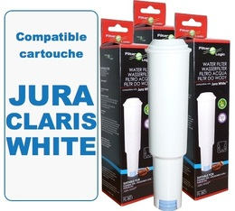 Lot de 3 Cartouches filtrantes Filter Logic FL-801 compatibles Jura Claris White