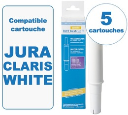 5 Cartouches BestCup T WHITE compatible Jura IMPRESSA Claris WHITE